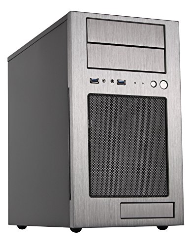 SilverStone Technology SST-TJ08T-E-USA Silverstone Technoloy Micro-ATX Mini-DTX, Mini-Itx Mid Tower Computer Case with Aluminum Front Panel and Steel Body TJ08T-E-USA
