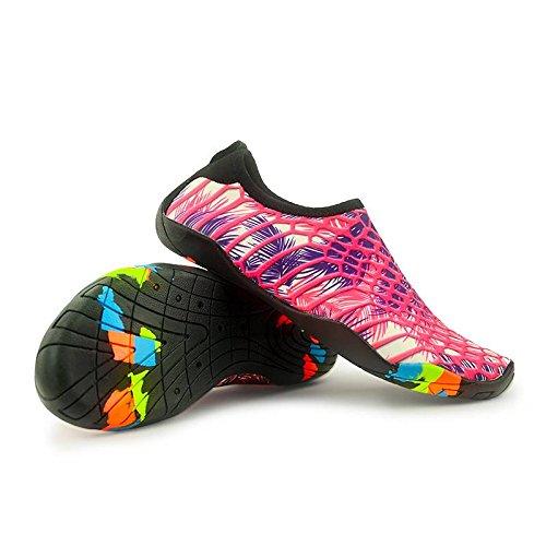 de la Hombres COMVIP Calcetines Barefoot Piel de Secos la Borgoña del Quick Aqua Zapatos Playa TqqBxX