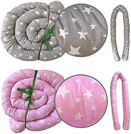 protector cuna chichonera Cama Beb/é Coj/ín Parachoques Coj/ín Protectores Para Cunas y Camas de Beb/é Cuna Serpiente Protector flores 300 cm
