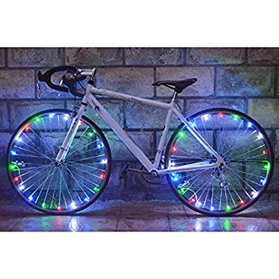 Bicycle Bike Rim Lights,20 LED String Light Multi Color Bicycle Bike Wheel Rim Copper Wire Starry Light, Cool Bike Accessories.