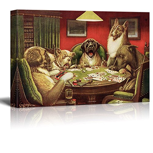 Dogs Playing Poker Series Waterloo by by C M Coolidge Gallery
