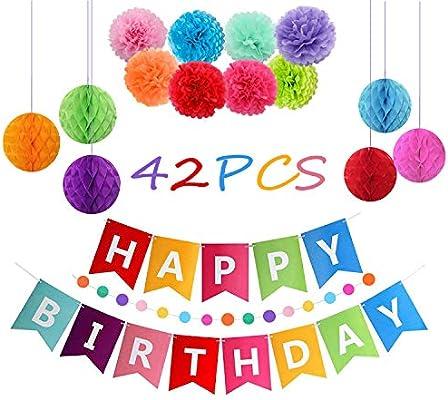 Reciclado decoración Fiesta de cumpleaños, Cartel Happy ...