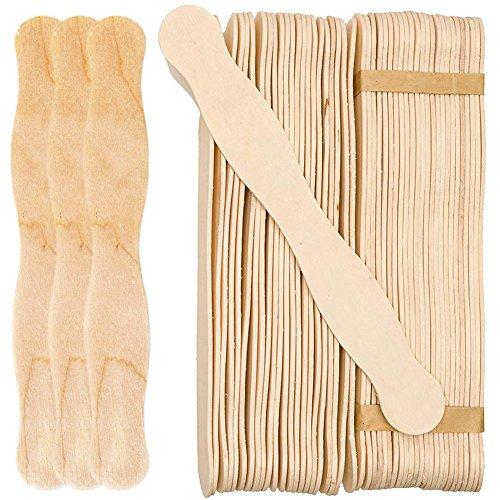 per Newly 50Pcs Ice Cream Wood Stick Jumbo Fan Handles Lollipop Craft Sticks Popsicle Tongue Depressors Lolly Sticks Food Safe DIY Paddle Burly-Wood