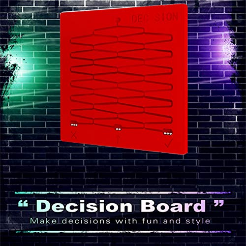 Woohchy Decision Board Hanging On The Wall for Executive Decision Making Board (Red)
