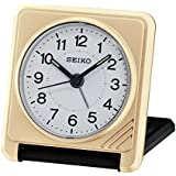 Seiko Travel Alarm Clock, Wood, Gold