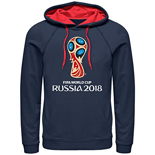 Fifth Sun FIFA World Cup Russia 2018 Men's Classic Color Symbol Hoodie-XXL Navy/Red