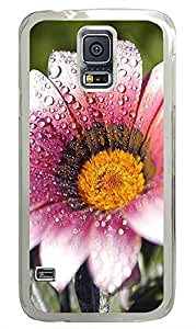 Samsung Galaxy S5 Wet Flower PC Custom Samsung Galaxy S5 Case Cover Transparent