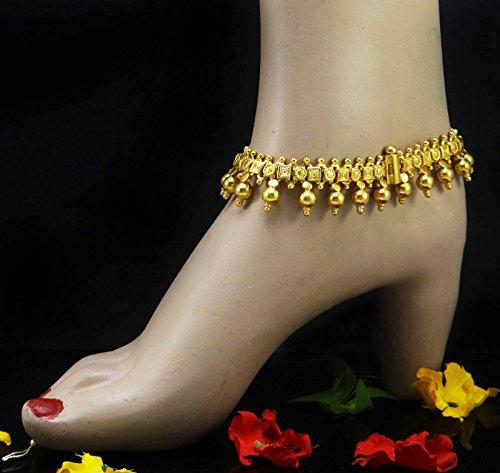 Banithani Plaqué Or 925 Argent Sterling Bracelet De Cheville Nouveau Cadeau De Bijoux De Mode Pour Femme