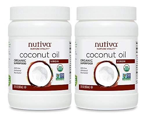 Nutiva Organic, Cold-Pressed, Unrefined, Virgin Coconut Oil, 29-Oz, 2-Pack