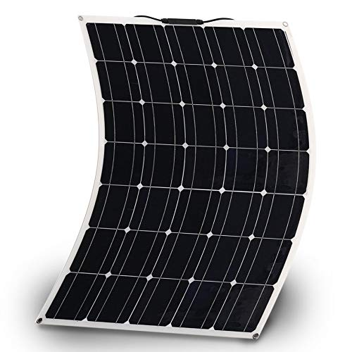 150 Watts Monocrystalline Solar Panel Lightweight Flexible Charger for Boat Car Power Supply (150W)