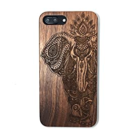 iPhone 7 PLUS Case,BTHEONE Real Natural Wood Cover for iPhone 7 PLUS Unique Handmade Cute Protective iPhone 7 PLUS Case… 9 √ Compatible with iPhone 7 (Not for iPhone7 Plus) √ Naturally wood different,each wood back has a unique grain and texture. √ Specially designed for iPhone 7, has precise design for speakers, charging ports, audio ports and buttons.