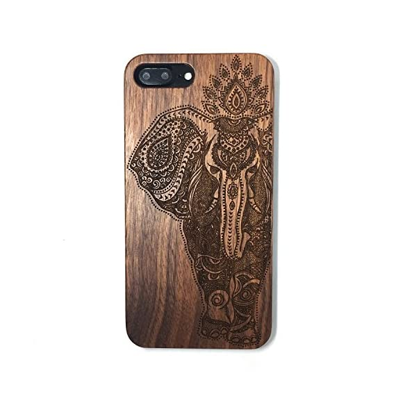 iPhone 7 PLUS Case,BTHEONE Real Natural Wood Cover for iPhone 7 PLUS Unique Handmade Cute Protective iPhone 7 PLUS Case (5.5 Inch) (Walnut-Elephant) 1 √ Compatible with iPhone 7 (Not for iPhone7 Plus) √ Naturally wood different,each wood back has a unique grain and texture. √ Specially designed for iPhone 7, has precise design for speakers, charging ports, audio ports and buttons.