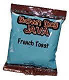 Brown Dog Java 200326 French Toast Flavored Coffee44; 24 Single Pot Packets