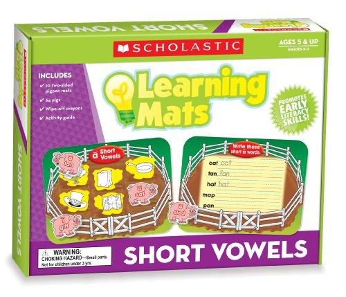 Scholastic Teacher's Friend Short Vowels Learning Mats, Multiple Colors (TF7112) ()
