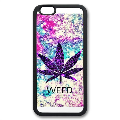 Coque silicone BUMPER souple IPHONE 6 PLUS / 6s PLUS - Cannabis Weed Smoke SWAG mignon motif 4 DESIGN case+ Film de protection OFFERT