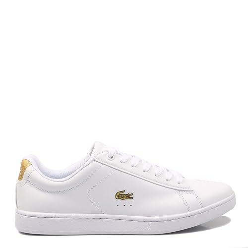 Lacoste, Carnaby EVO 219 1 Blanco 37SFA0018, Zapatillas Blancas para Mujer ,37