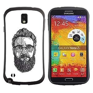Be-Star Impreso Colorido Diseño Antichoque Caso Del Iface Primera Clase Tpu Carcasa Funda Case Cubierta Par SAMSUNG Galaxy Note 3 III / N9000 / N9005 N9000 N9002 N9005 ( glasses art painting beard hipster )