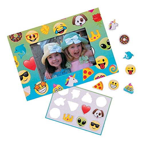 Emoji Picture Frame Magnet DIY ~ Everyone Will Be All Smiles - 12 Frames ()