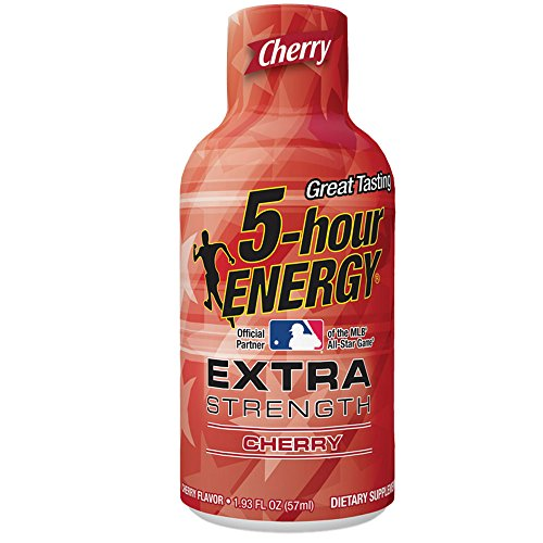 - Extra Strength 5-hour ENERGY Shots – Cherry – 24 Count