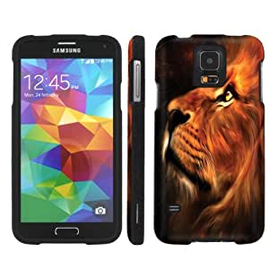 [ManiaGear] [2pc Slim] Design Graphic Image Shell Cover Hard Case (King Lion) for Samsung Galaxy S5