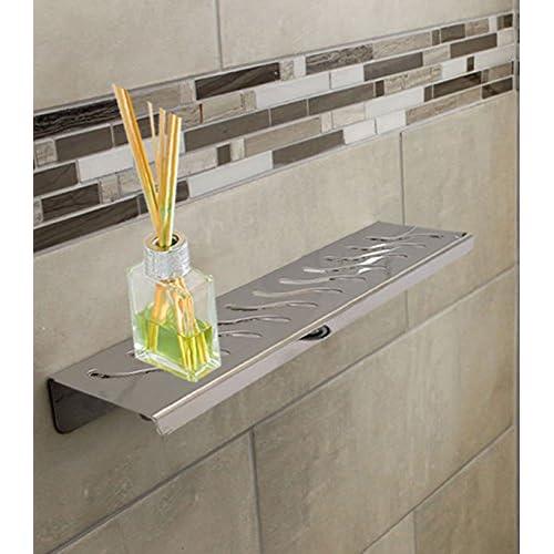 Royal Stainless Steel Shelf Rectangular By Serene Steam Ocean Wave - Bathroom hardware sale