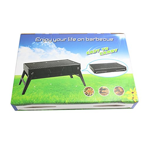YLSZ-Portable Outdoor Barbecue Grill Outdoor Portable Folding Thickened Bbq Grill Charcoal Black Small Household
