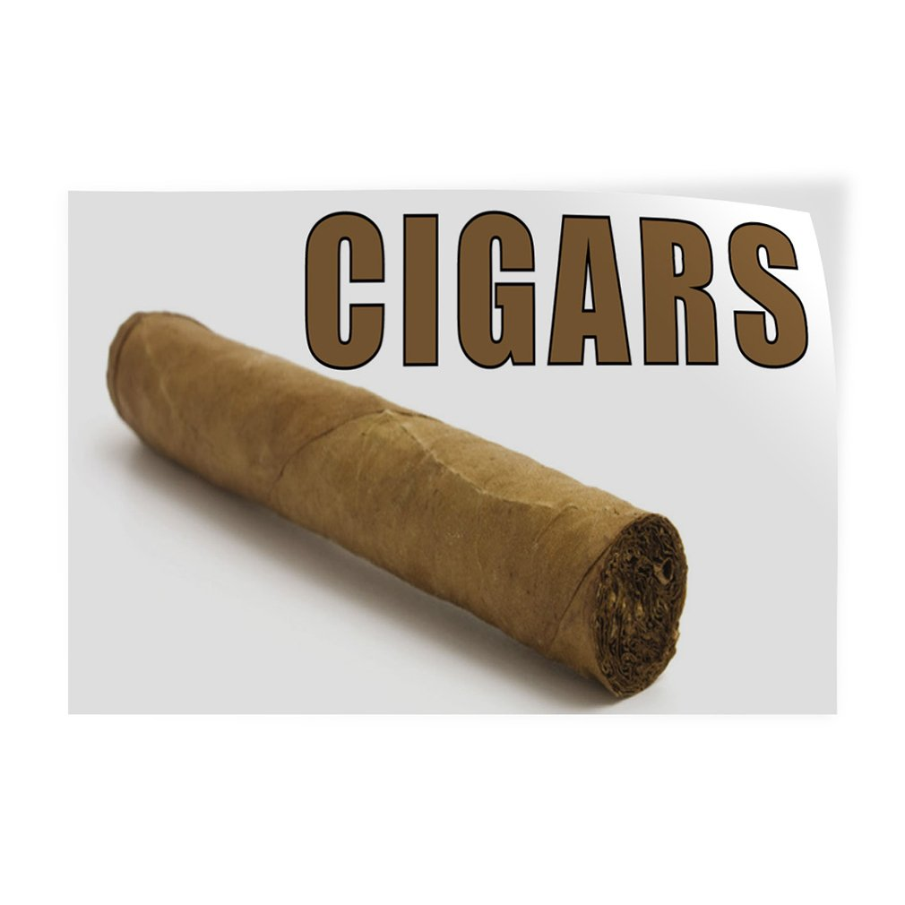Decal Sticker Multiple Sizes Cigars #1 Style E Business Cigars Outdoor Store Sign White Set of 10 14inx10in