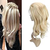 613 27 4 lace front wig - VeSunny 18inch Front Lace Wig Piano Color #27 Honey Blonde Mixed with #613 Bleach Blonde Long Wigs Natural Looking Wigs for Women Body Wave Brazilian Human Hair Lace Frontal Wigs 130% Density