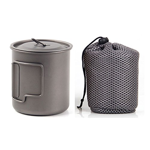 JIABO The Insulated Titanium Mug Camping Mug Healthy & Eco-Friendly Cup for Travel / Camping 450ML