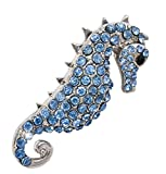 Gnzoe Jewelry, Womens Brooch Rhinestone Animal Shape Bridal Wedding Brooch Pins Bride For Wedding Blue