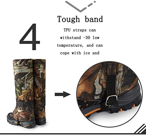 Outdoor Leg Gaiter Waterproof Snow Boot Gaiter,for Outdoor Hiking, Fishing, Research, Hunting, Grass Trimming,Skiing