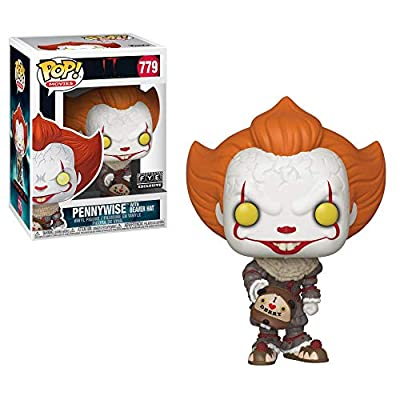 Funko 40629 POP! Movies Pennywise Exclusive Vinyl Figure #779 [with Beaver Hat], Multicolour: Toys & Games