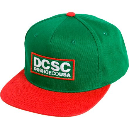 DC Shoe Co. Robson Snapback Hat Kelly Green/Red
