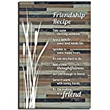 Cheap Lela & Ollie Friends Wood Plaque Inspiring Quotes (6 x 9 Inches) – Classy Rustic Vertical Frame Wall and Tabletop Art Decoration with Easel and Hanging Hook | Friendship Recipe Thoughtfulness Sayings