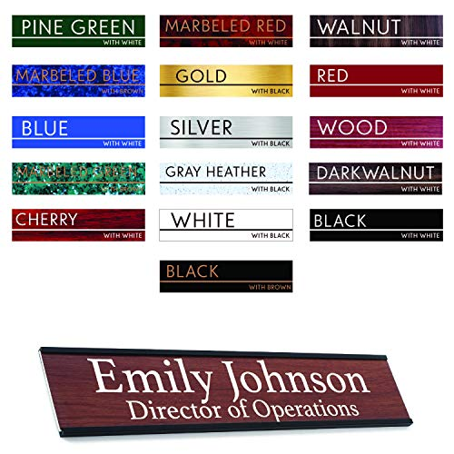- Premium Desk Name Plate Personalized Desk Name Tags with Wall/Door Holder for Office Classroom (Black Door/Wall Holder) | 16 Different Color for Name Plate 2x10