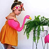 HILTOW Flamingo Watering Can Decorative Elegant Pot for Indoor Outdoor House Plants - Gardening Tool for Kids, (Pink)
