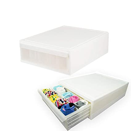 27bd9af7ffcb9 RunKoo Underwear Organizer Dresser Drawer Organizer - Foldable Closet  Drawer Dividers Washable Sock Organizer Storage Bra