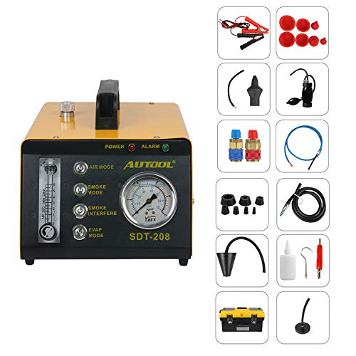 AUTOOL SDT-208 Automotive Fuel Leakage Tester 4 in 1 Car Conduit Pipe System Leak Detection Tools Car Fuel Leak Detector for 12V Vehicles Boats with Adjustable FlowMeter EVAP Leak Testers