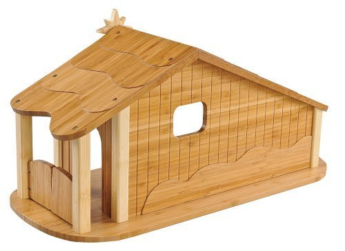 Everearth Large Bamboo Nativity Set by EverEarth