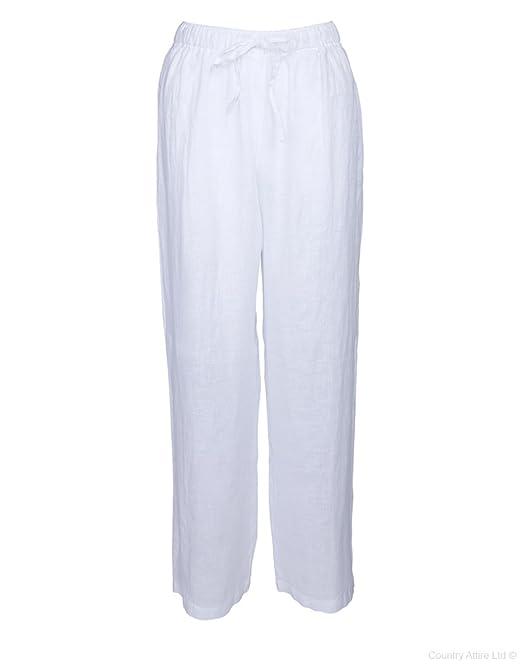 120% LINO - Pantalón - para Hombre Blanco Blanco 42