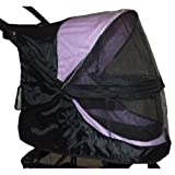 Pet Gear Happy Trails Weather Cover for No Zip Pet Stroller - Black