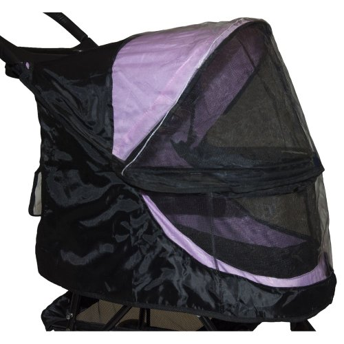 Pet Gear PG8100NZWC Happy Trails Weather Cover, Large, Black