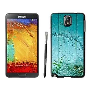 NEW Unique Custom Designed Samsung Galaxy Note 3 N900A N900V N900P N900T Phone Case With Water Splash Green Grass Aquarium_Black Phone Case