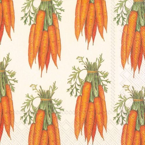 (Ideal Home Range 20-Count 3-Ply Paper Lunch Napkins, Carrots)