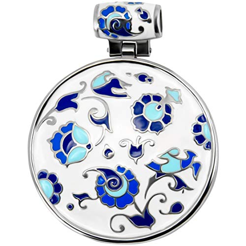 andrii volodko Sterling Silver Pendant with Enamel Pendant with Gift Box for Women | Color - White