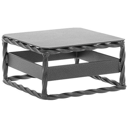 Expressly HUBERT URBAN TWIST Silver-Grey Metal Cube Riser - 6''Square x 3''H by Hubert