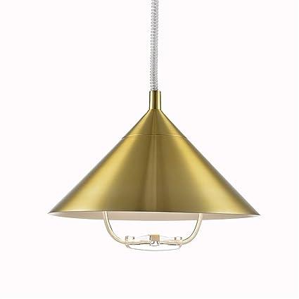 Extensible Oro Colgante Luces de Techo Europeo lámparas ...