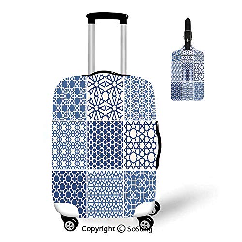 (Arabian 3D Printed Luggage Cover & Luggage Tag,Fit for 18-22