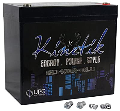 Kinetik HC1400R BLU 1400W 12V Reverse Polarity High Current AGM Car Audio Battery Power Cell (BLU Series)