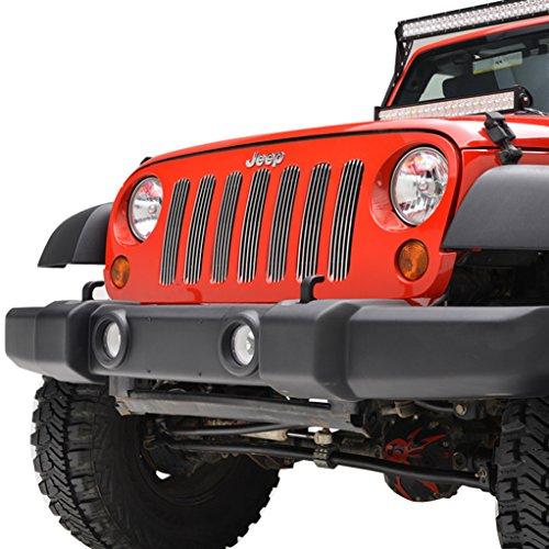 EAG 07-18 Jeep Wrangler JK Billet Grille Vertical Overlay (Vertical Overlay Billet Grille)